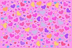 Coeurs de couleur Images libres de droits