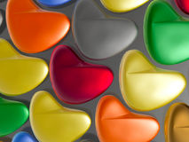 Coeurs de couleur illustration de vecteur