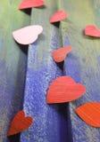 Coeurs de coupe de papier Photographie stock