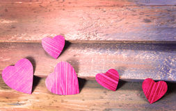 Coeurs de coupe de papier Photographie stock libre de droits