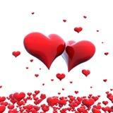 Coeurs de couples Image stock