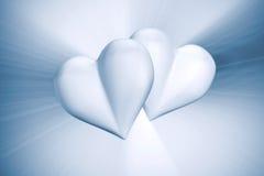 Coeurs de couples Photographie stock libre de droits