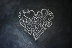 Coeurs de craie Photo libre de droits