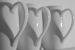 Coeurs de cuvette de café Image stock