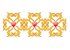 Coeurs de décoration avec des courbes Photographie stock