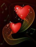 Coeurs de danse Photos stock