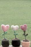 Coeurs de decorationsflower de valentines Image stock