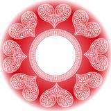 Coeurs de dentelle pour la Saint-Valentin illustration stock