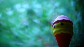Coeurs de fenêtre de crème glacée de jouet clips vidéos