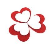 Coeurs de feutre de Valentine Photos libres de droits