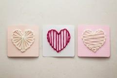 Coeurs de fil Photographie stock
