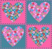 Coeurs de fleur Images libres de droits