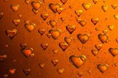 Coeurs de flottement de bulle Photo libre de droits