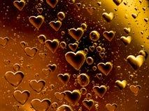 Coeurs de flottement de bulle Image libre de droits