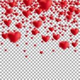 Coeurs de flottement rouges Photos libres de droits