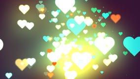 Coeurs de fond abstrait Photographie stock
