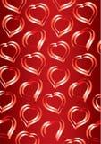 Coeurs de fond du jour de Valentine Photographie stock libre de droits