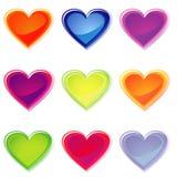 Coeurs de gelée Photo libre de droits