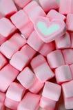 Coeurs de guimauve Photos stock