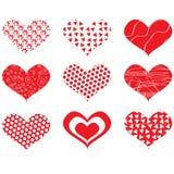 Coeurs de jour de Valentine Image libre de droits