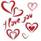 Coeurs de jour de valentines en vacances Photo libre de droits