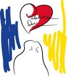 Coeurs de jour du `s de Valentine illustration libre de droits