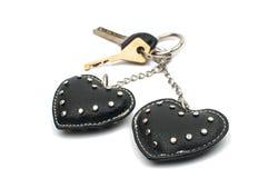 Coeurs de Keychain Photographie stock