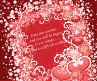 Coeurs de l'amour/ Photographie stock libre de droits