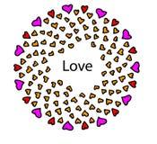Coeurs de l'amour et de l'amitié sur un fond blanc Photo stock