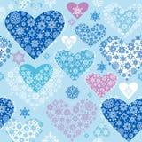 Coeurs de l'hiver Image libre de droits