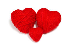 Coeurs de laines -3 Image libre de droits