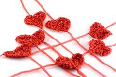 Coeurs de laines de Meny sur le blanc Image stock