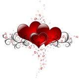 Coeurs de Loveing Image libre de droits