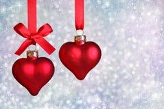 Coeurs de Noël Photos libres de droits