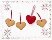 Coeurs de Noël photographie stock