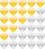 Coeurs de notation Photographie stock libre de droits