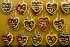 Coeurs de pain d'épice Photos libres de droits