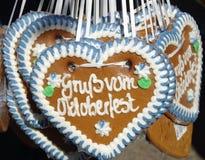 Coeurs de pain d'épice Photo libre de droits