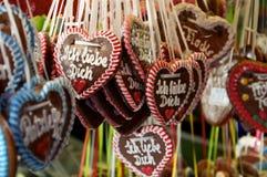 Coeurs de pain d'épice Photographie stock