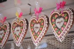 Coeurs de pain d'épice Image libre de droits