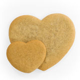 coeurs de pain d'épice Photographie stock libre de droits