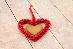 Coeurs de pain d'épice de Saint-Valentin Photo libre de droits