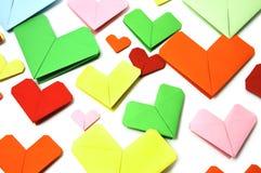 Coeurs de papier Image libre de droits