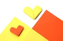 Coeurs de papier Images libres de droits