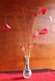 Coeurs de papier d'origami Image libre de droits