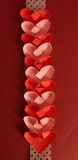 Coeurs de papier d'origami Photo stock