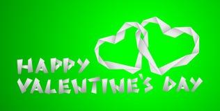 Coeurs de papier de Valentine Photos libres de droits