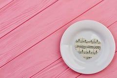 Coeurs de papier du plat blanc Photos libres de droits