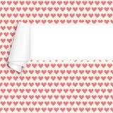 Coeurs de papier ouverts déchirés Image stock