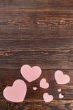 Coeurs de papier pour l'espace de bannière et de copie Photos stock
